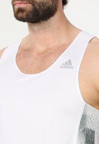 adidas Performance - SINGLET - Sports shirt - white/black - 5