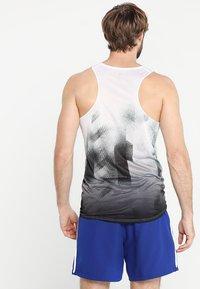 adidas Performance - SINGLET - Sports shirt - white/black - 2