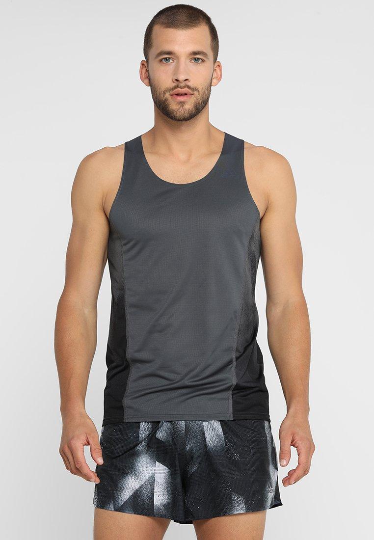 adidas Performance - SINGLET - Sportshirt - grey six/black