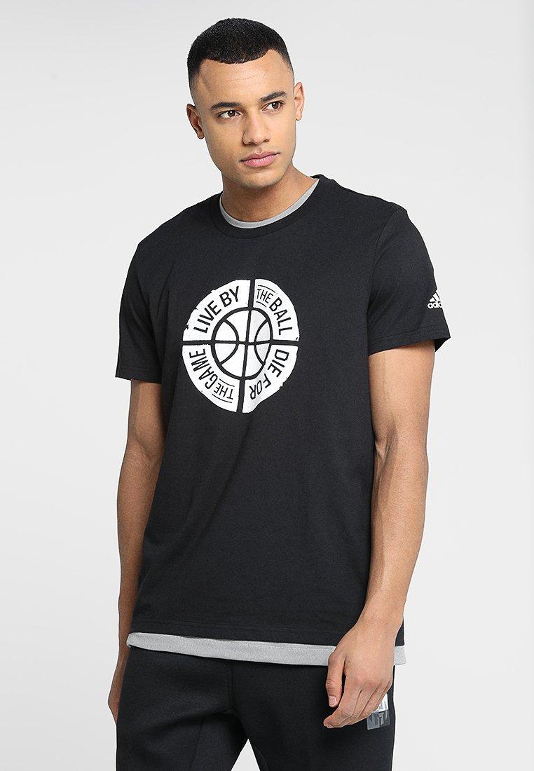 adidas Performance - LIVE BY BALL - Print T-shirt - black