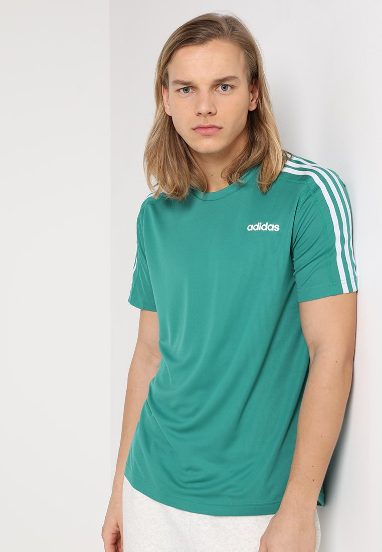 adidas Performance - TEE - T-Shirt print - active green