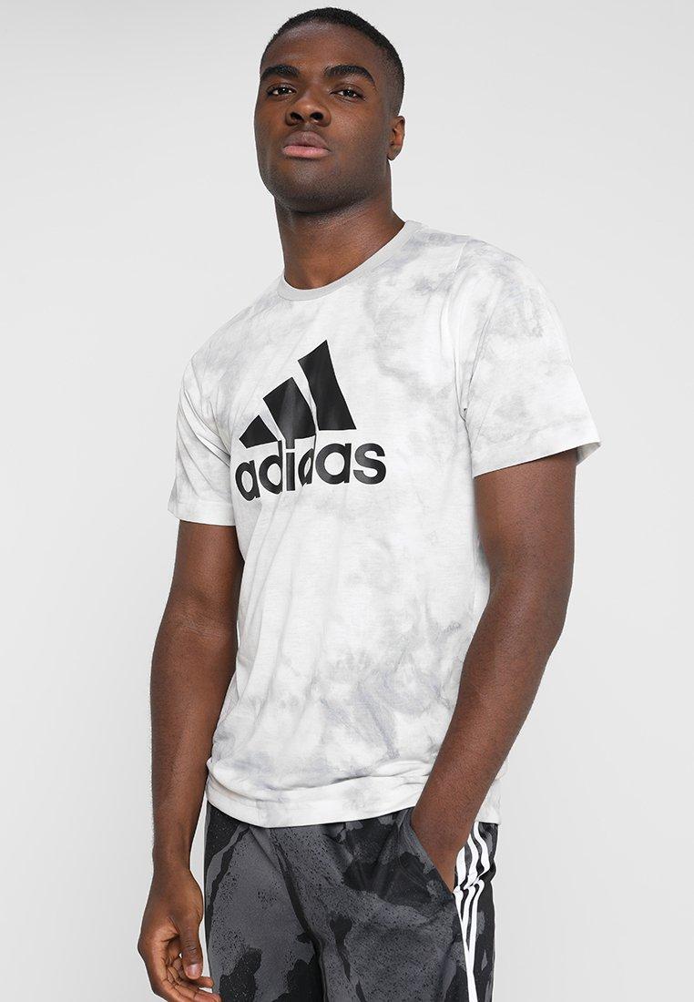 adidas Performance - DYE TEE - Print T-shirt - white