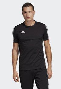 adidas Performance - Tiro 19 Tee - T-shirt med print - black - 0
