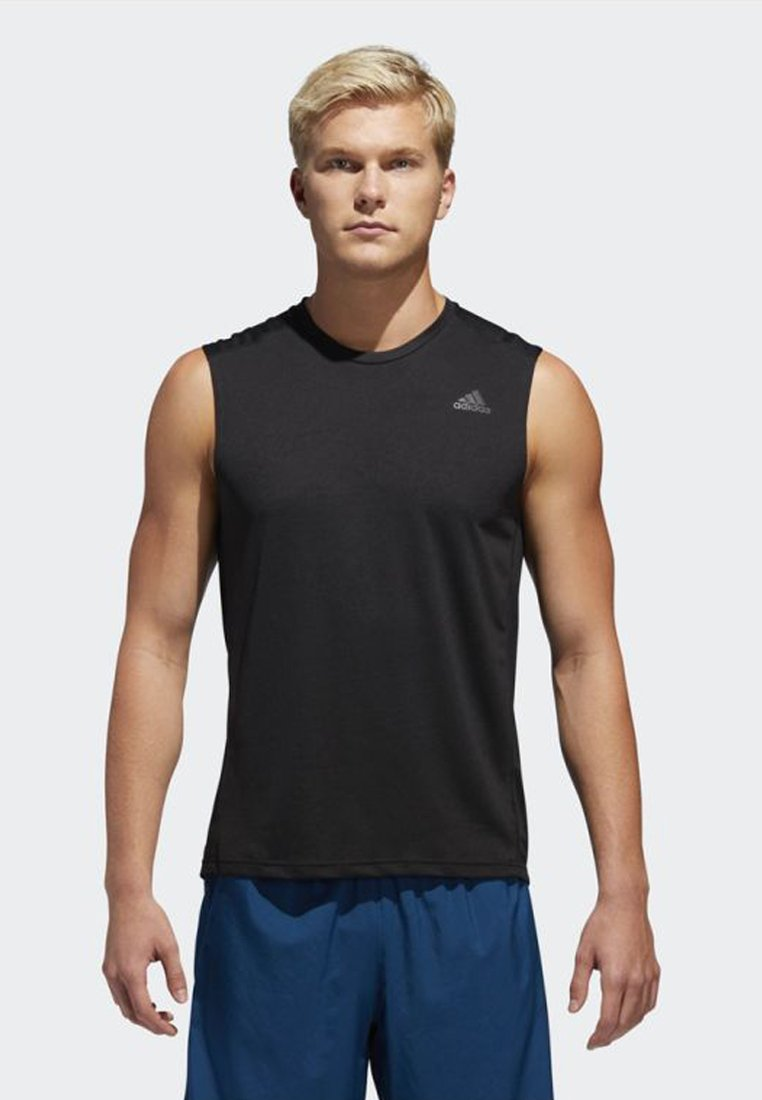 adidas Performance - OWN THE RUN TANK TOP - Funktionströja - black