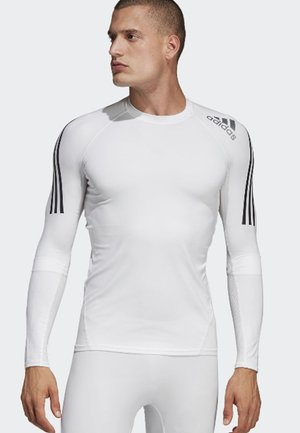 ALPHASKIN SPORT+ 3-STRIPES LONG-SLEEVE TOP - Funktionsshirt - white