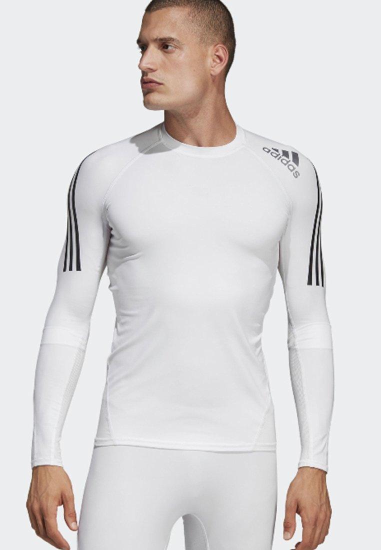 adidas Performance - ALPHASKIN SPORT+ 3-STRIPES LONG-SLEEVE TOP - Funktionsshirt - white