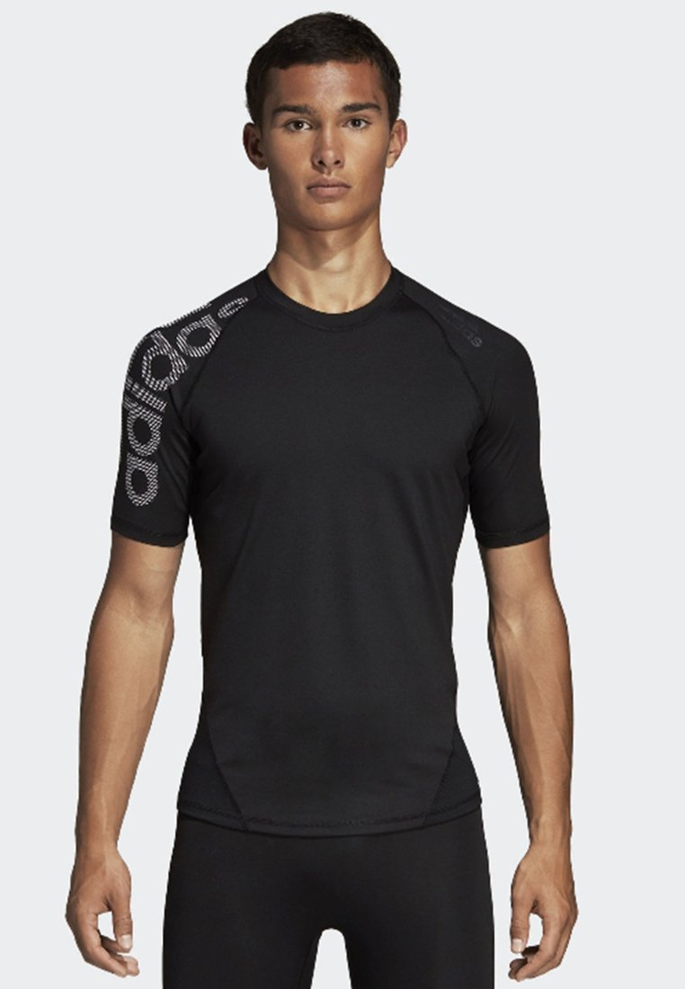adidas Performance - ALPHASKIN BADGE OF SPORT TEE - Camiseta estampada - black