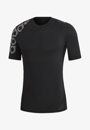 ALPHASKIN BADGE OF SPORT TEE - Print T-shirt - black