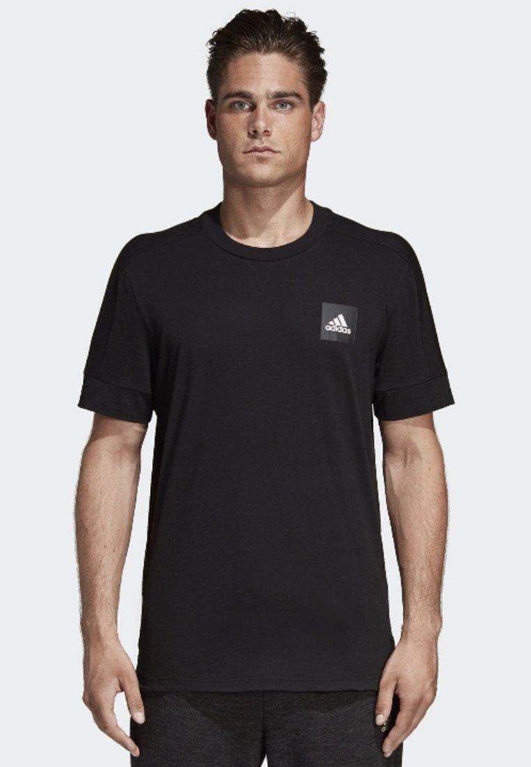 adidas Performance - ID 3-Stripes Tee - T-shirt con stampa - black