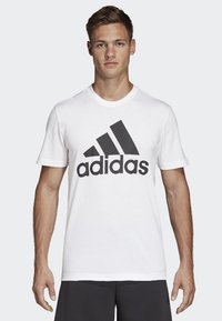 adidas Performance - Must Haves Badge of Sport Tee - T-shirt med print - white - 0