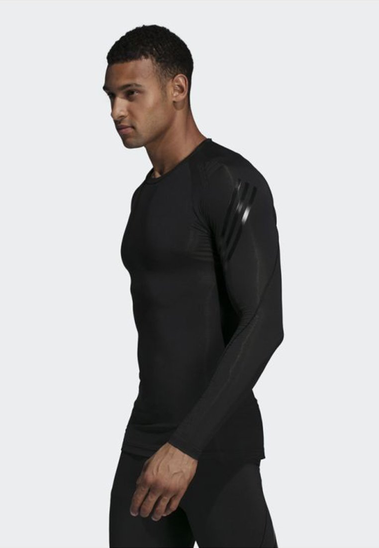 adidas Performance - ALPHASKIN TECH 3-STRIPES LONG-SLEEVE TOP - Funktionsshirt - black