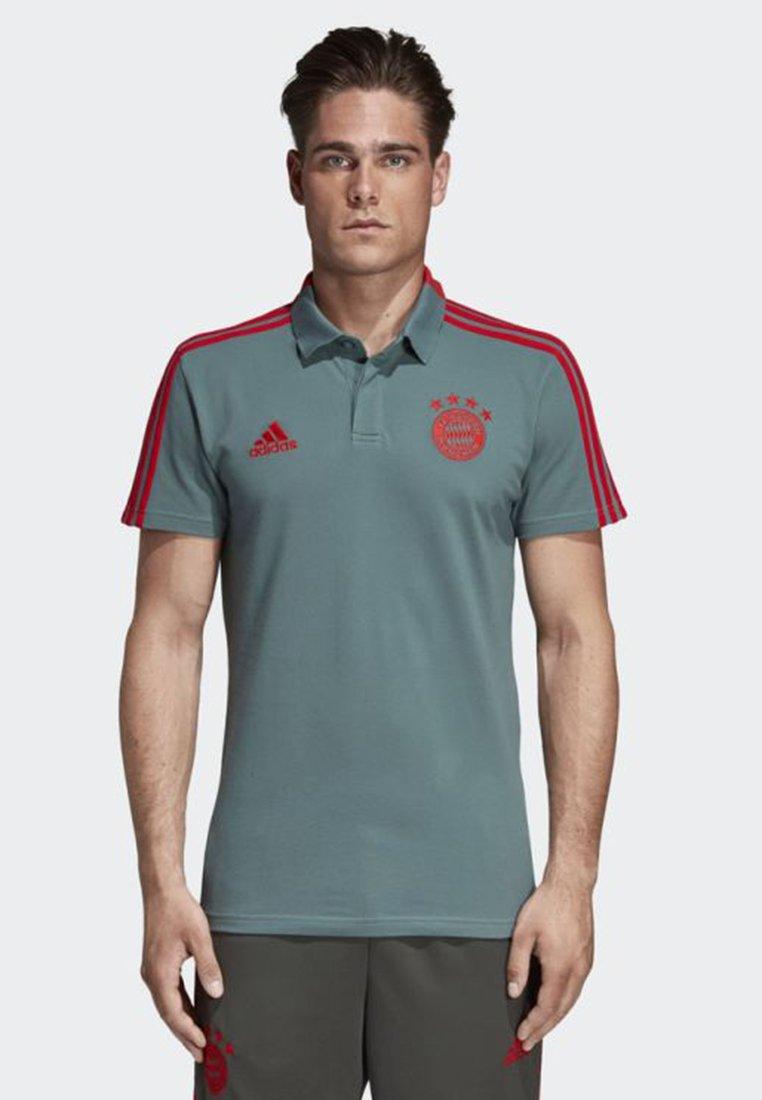 adidas Performance - FC BAYERN COTTON POLO SHIRT - Camiseta de deporte - green/red