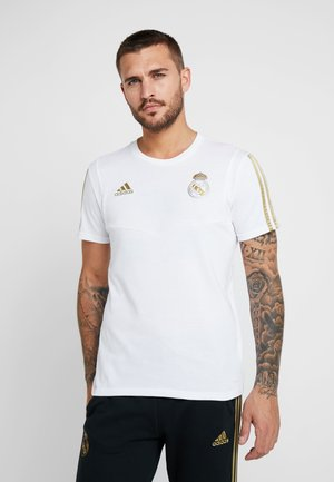 REAL MADRID TEE - Club wear - white/gold