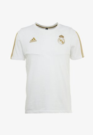 REAL MADRID TEE - Article de supporter - white/gold