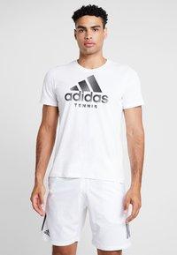 adidas Performance - CAT LOGO TEE  - Camiseta estampada - white - 0