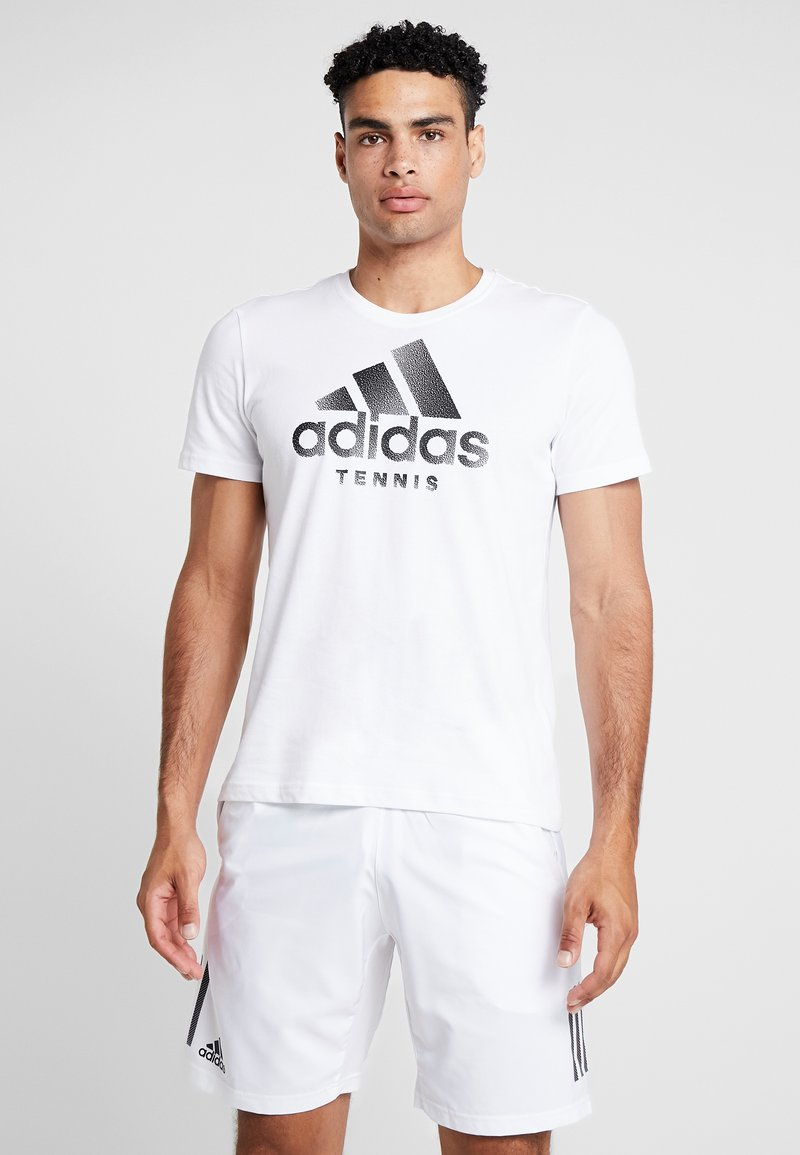 adidas Performance - CAT LOGO TEE  - Camiseta estampada - white