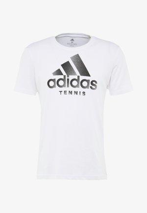 CAT LOGO TEE  - T-shirt imprimé - white