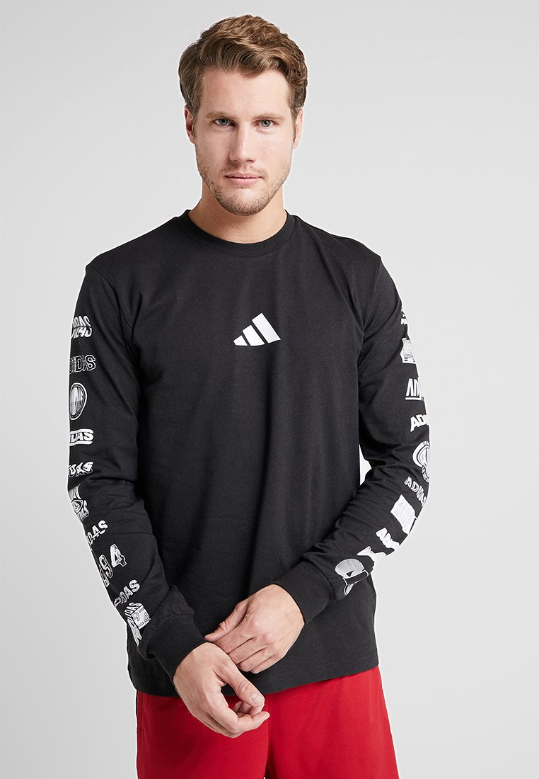 adidas Performance - ATHLETICS PACK SPORT LONG SLEEVE SHIRT - Camiseta de manga larga - black