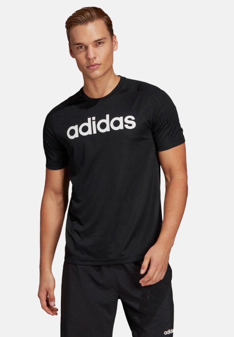 adidas Performance - LOGO TEE - Print T-shirt - black
