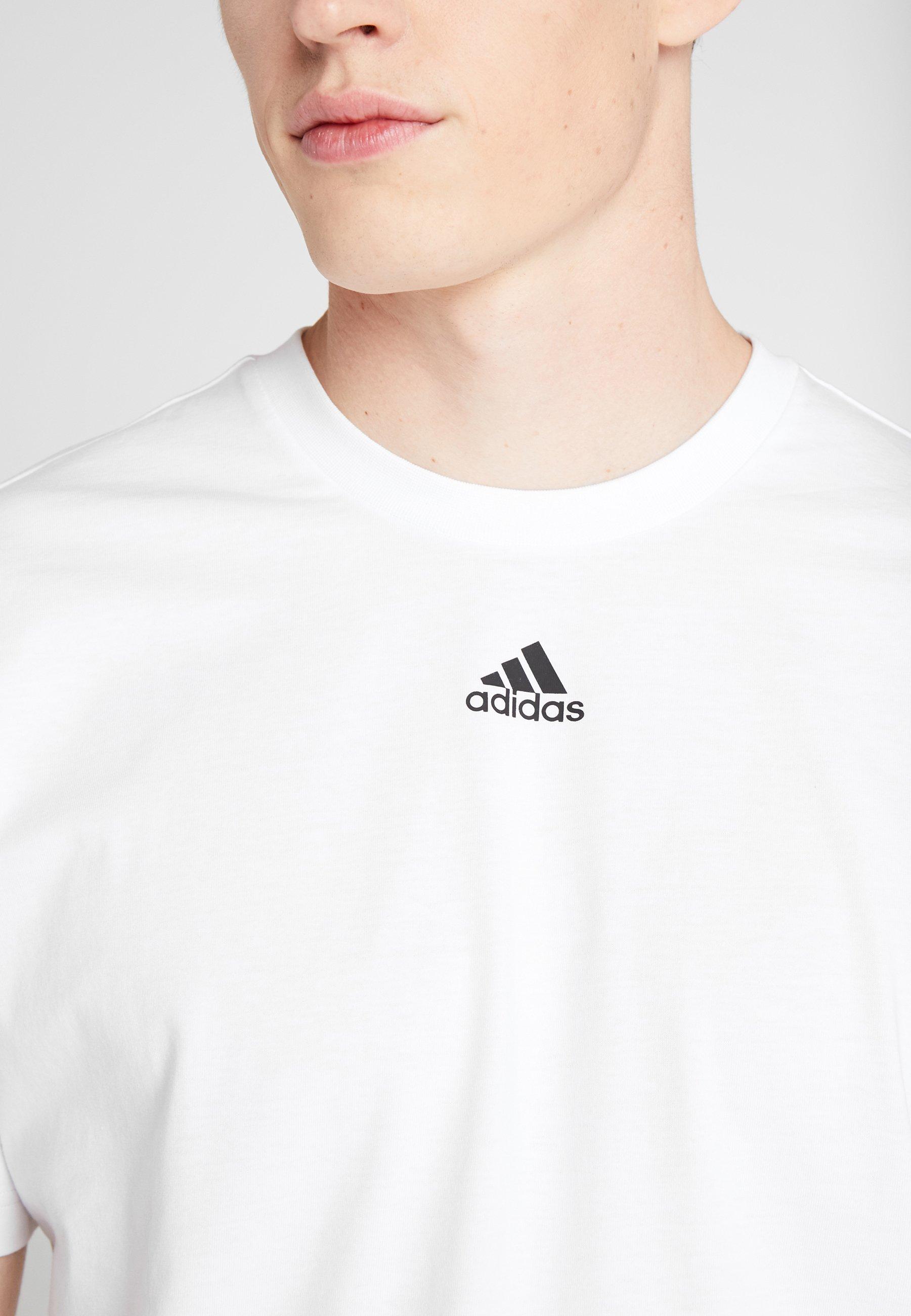 adidas Performance 3STRIPES ATHLETICS SHORT SLEEVE TEE - T-shirt con stampa - white/black