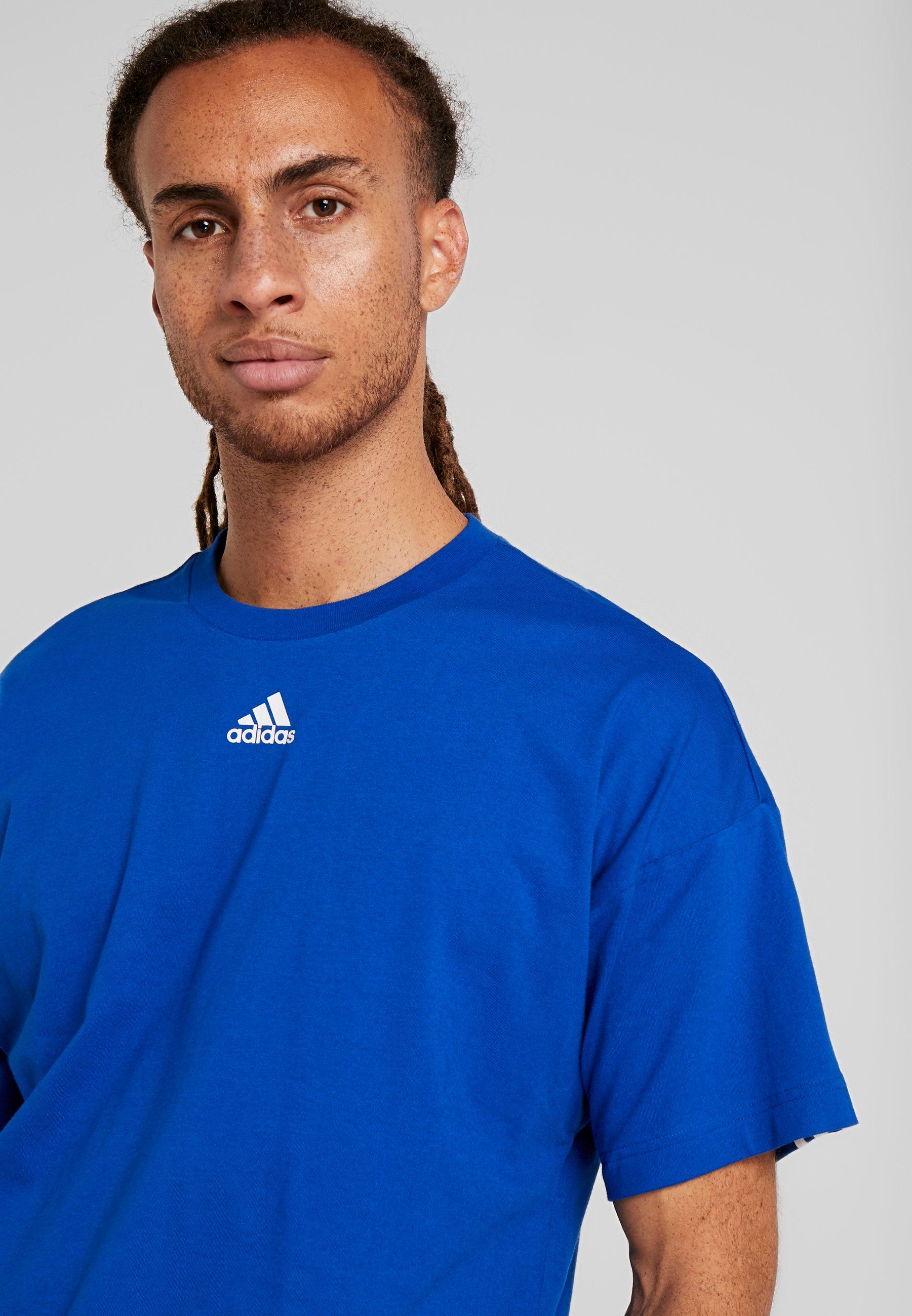 adidas Performance 3 STRIPES TEE - T-Shirt print croyal