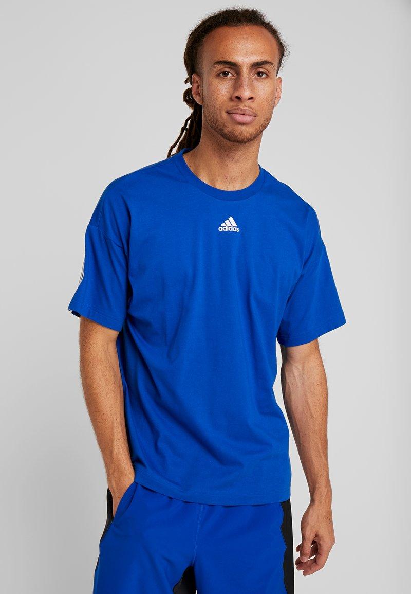 adidas Performance - 3 STRIPES TEE - Camiseta estampada - croyal