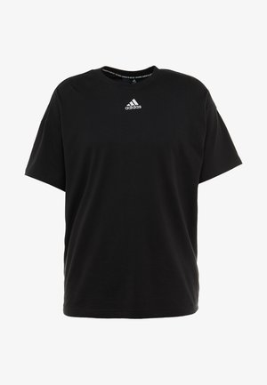 3 STRIPES TEE - T-shirt med print - black/white