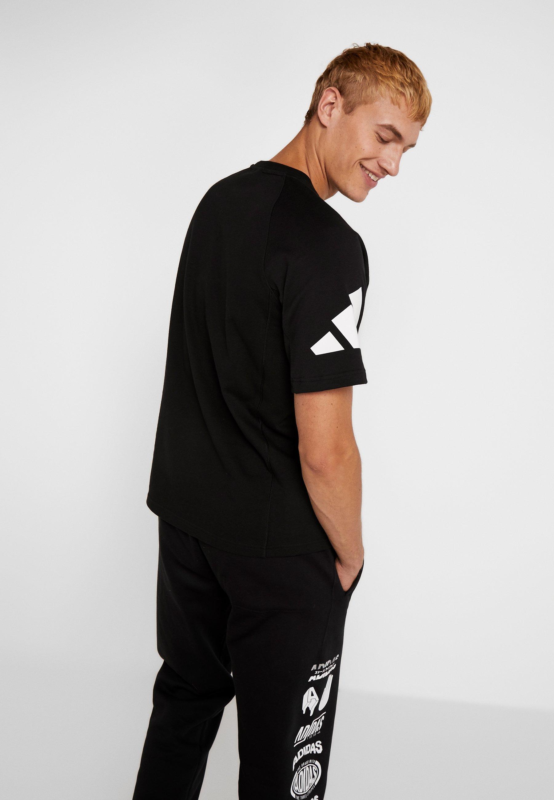 Con Adidas Stampa Heavy TeeT shirt Black Performance 0On8kZNwPX