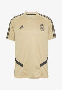 adidas Performance - REAL MADRID TR JSY - Squadra - gold/black - 3