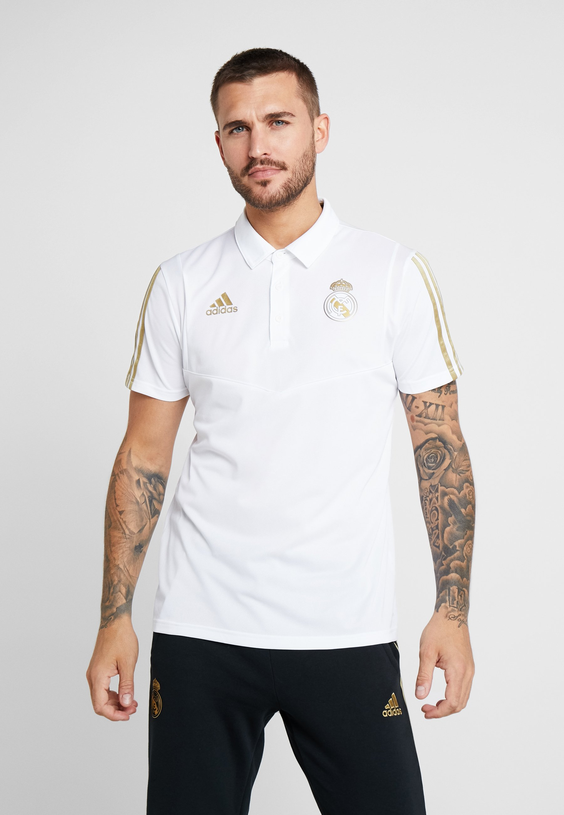 Supporter De Madrid Performance Adidas PoloArticle Real White IgY6vbyf7m