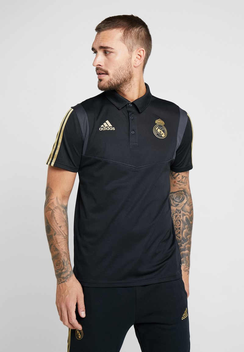 adidas Performance - REAL MADRID POLO - Club wear - black/gold