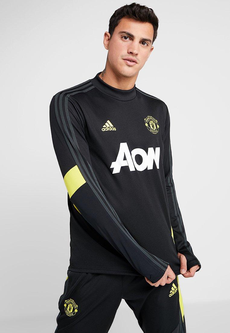 adidas Performance - MANCHESTER UNITED - Langarmshirt - black/solar grey