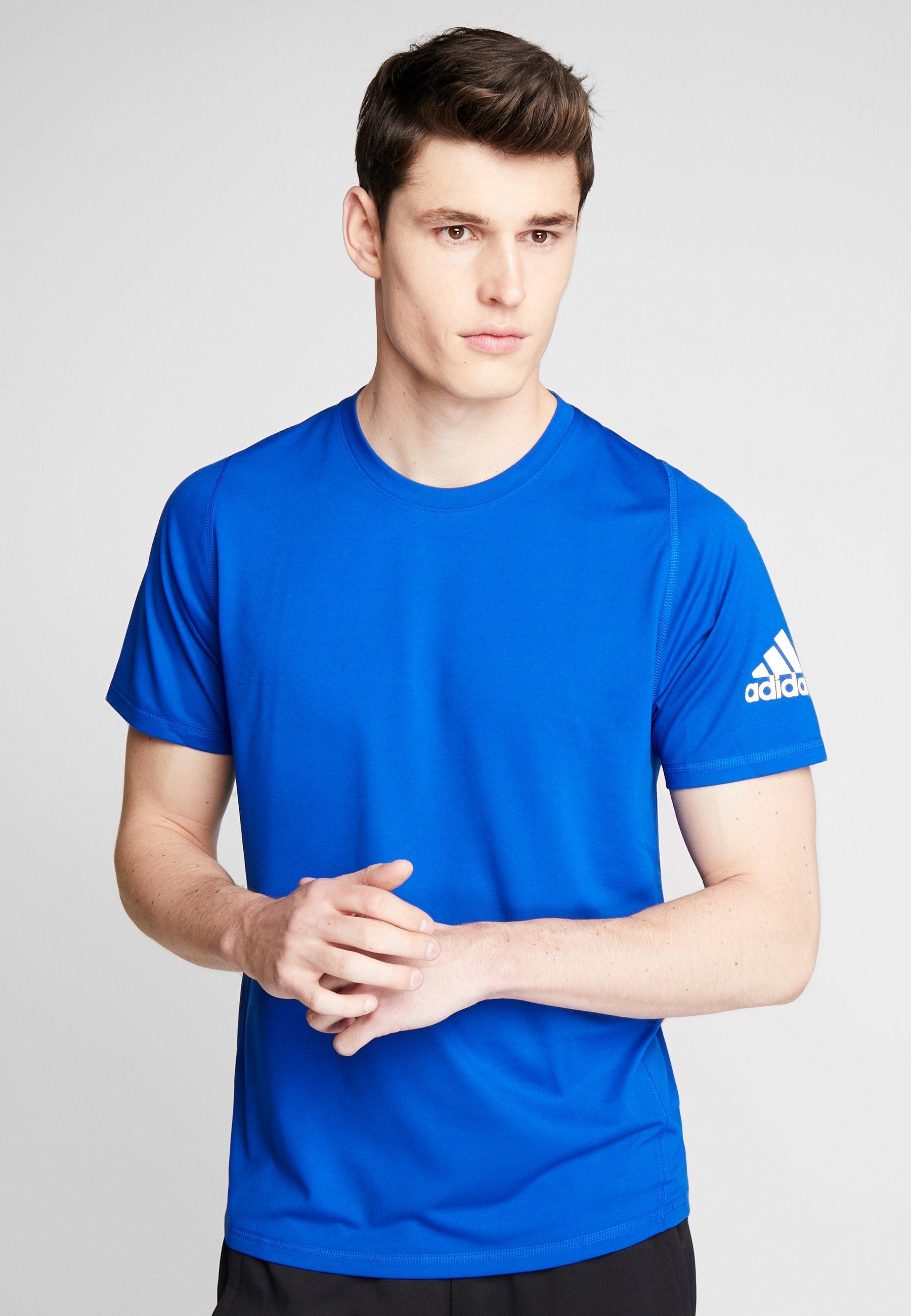Adidas Royal white T ImpriméCyan shirt Performance zGqSpUMV