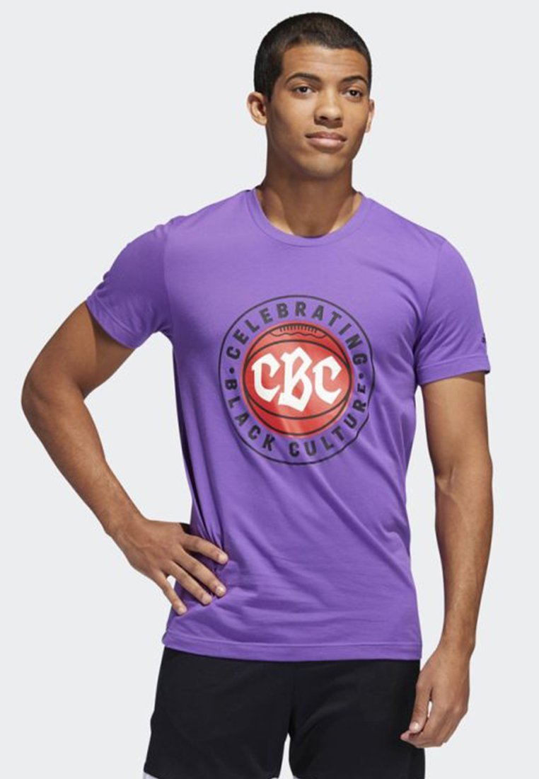 adidas Performance - Black History Month Graphic Tee - T-shirt imprimé - purple
