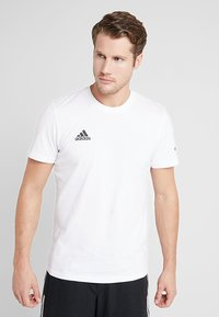 adidas Performance - TAN LOGO TEE - Camiseta estampada - white - 0