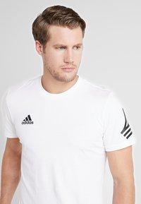 adidas Performance - TAN LOGO TEE - Camiseta estampada - white - 3