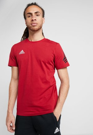 TAN LOGO TEE - Print T-shirt - active maroon