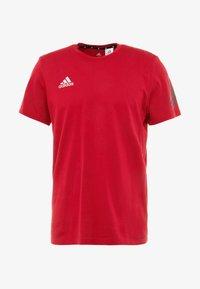 adidas Performance - TAN LOGO TEE - Camiseta estampada - active maroon - 4