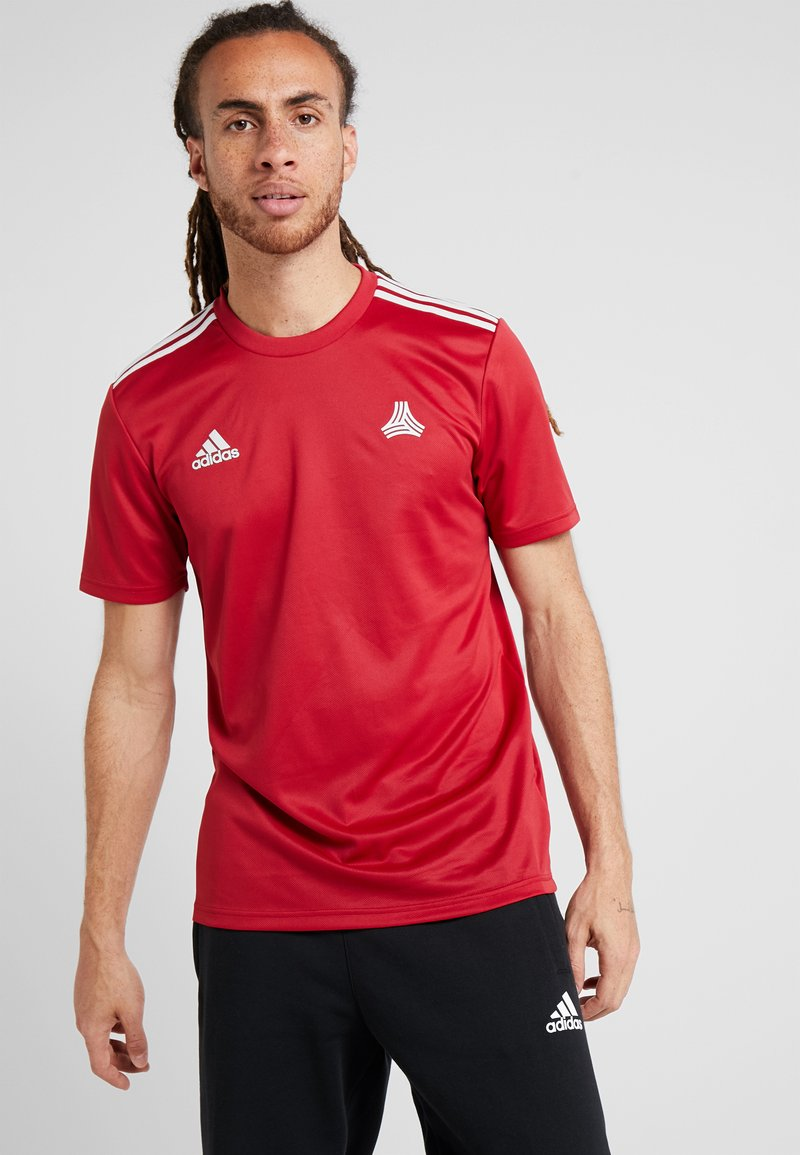 adidas Performance - TAN  - T-shirt med print - active maroon