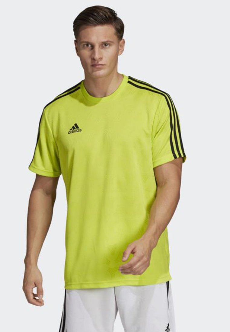 adidas Performance - TAN JACQUARD JERSEY - T-Shirt print - yellow