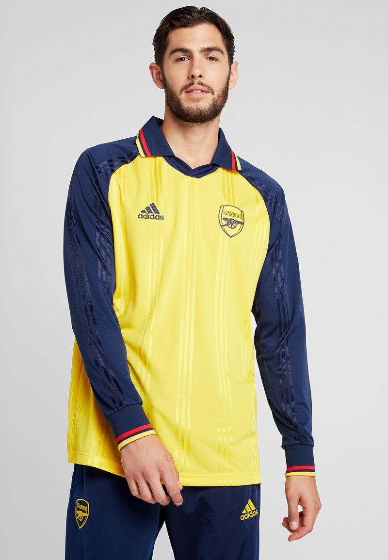 adidas Performance - AFC ICONS TEE - Klubbkläder - equipment yellow/collegiate navy