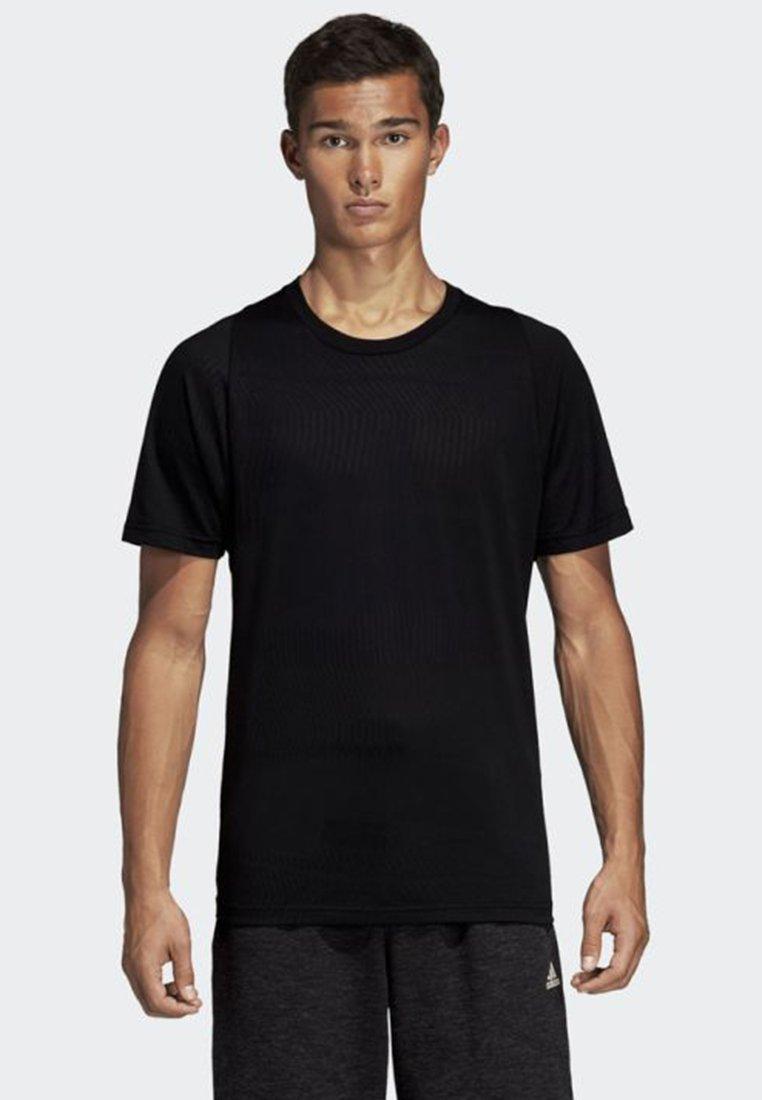 adidas Performance - ID JACQUARD TEE - T-shirt - bas - black