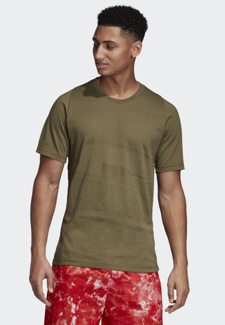 adidas Performance - ID JACQUARD TEE - T-Shirt print - green