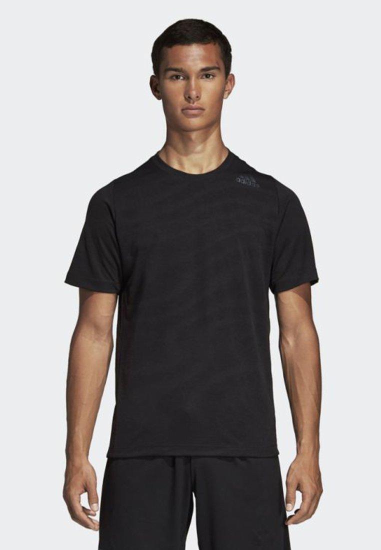 adidas Performance - FREELIFT 360 JACQUARD GRAPHIC TEE - T-shirt z nadrukiem - black