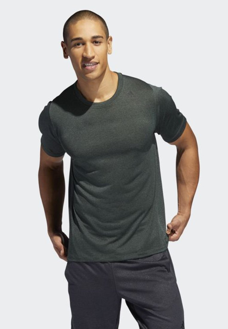 adidas Performance - FREELIFT TECH CLIMACOOL FITTED T-SHIRT - T-shirt con stampa - green