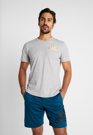 SID TEE - Camiseta estampada - medium grey heather/gold