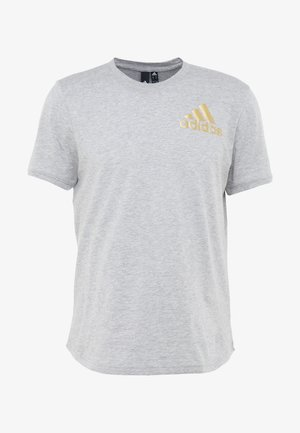 SID TEE - T-shirt print - medium grey heather/gold