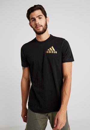 SID TEE - T-shirt z nadrukiem - black