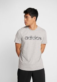 adidas Performance - CAMO LIN - Camiseta estampada - grey - 2