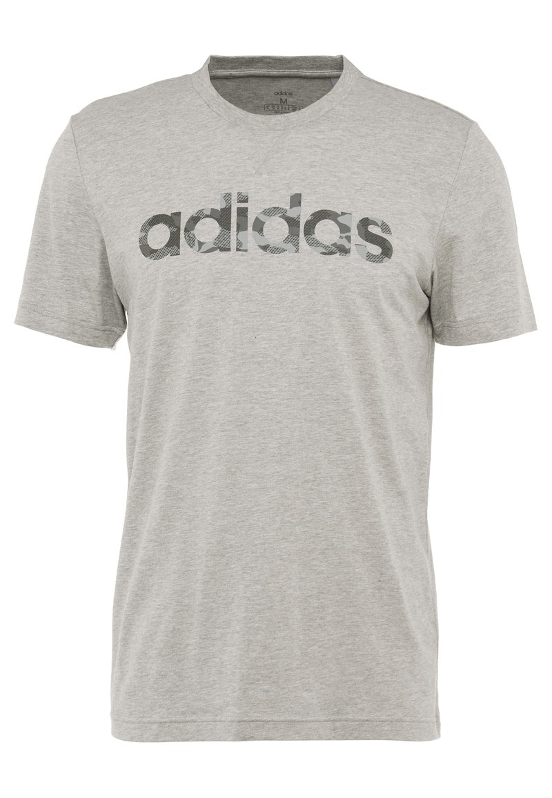 adidas Performance - CAMO LIN - Camiseta estampada - grey